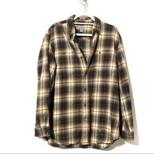 Carharrt Men's Button Down Plaid Flannel Shirt
